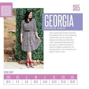 LuLaRoe Georgia 3XL Dress Black White Stripe NEW